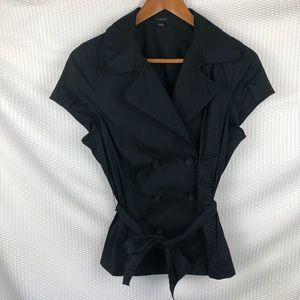 Ann Taylor   Short sleeves double breasted blouse
